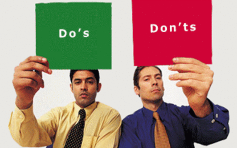 DOs and DON'Ts of the College Application